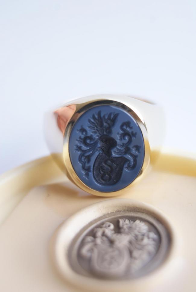gouden ring met steen